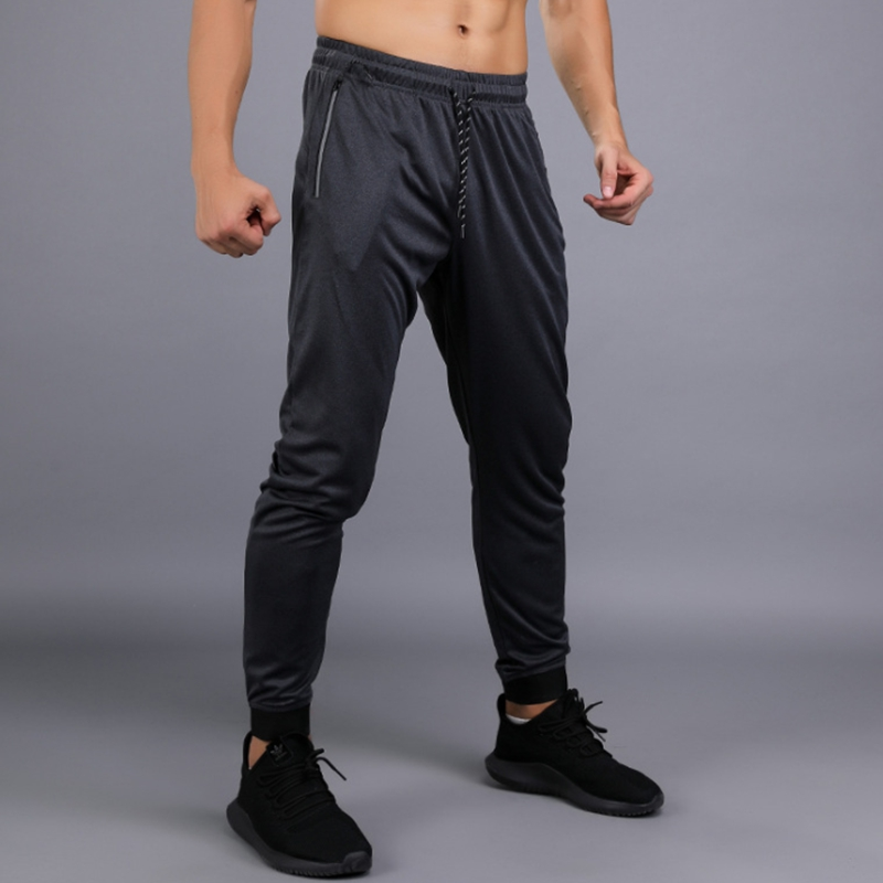 temperament shoes for whole family wholesale dealer Black Men Running Pants Fitness Sports Basketball soccer ...