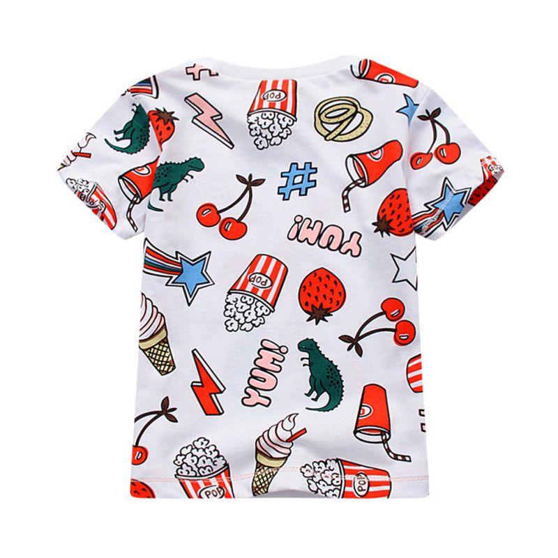 Baby Boys Girls T-shirt Kids Cartoon Pattern Tops Tees Printed Short Sleeve Tshirts