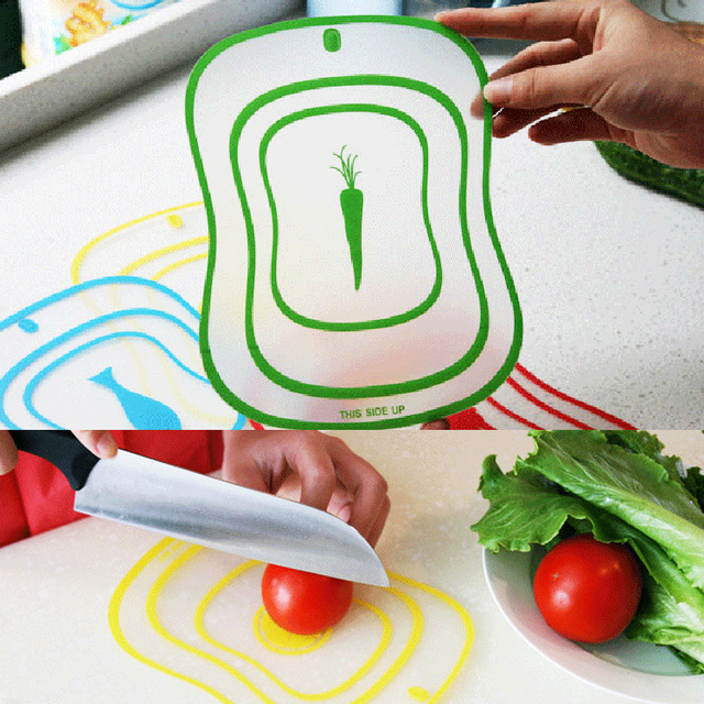 1Pcs Flexible Ultra The Kitchen Tool Fruit Vegetable Cutting Chopping Board Mat Color Random Small Size