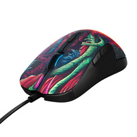 SteelSeries Rival 300 White Black Gray CSGO Fade Edition Wired Gaming Mouse With 6500 DPI RGB