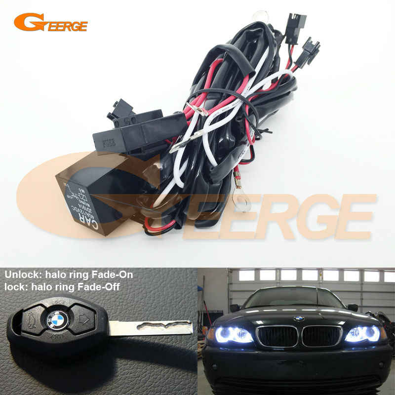 Relay Wiring Harness Kit For BMW Angel Eyes Halo Rings LED or CCFL Relay Harness w/ Fade-on Fade-off Features