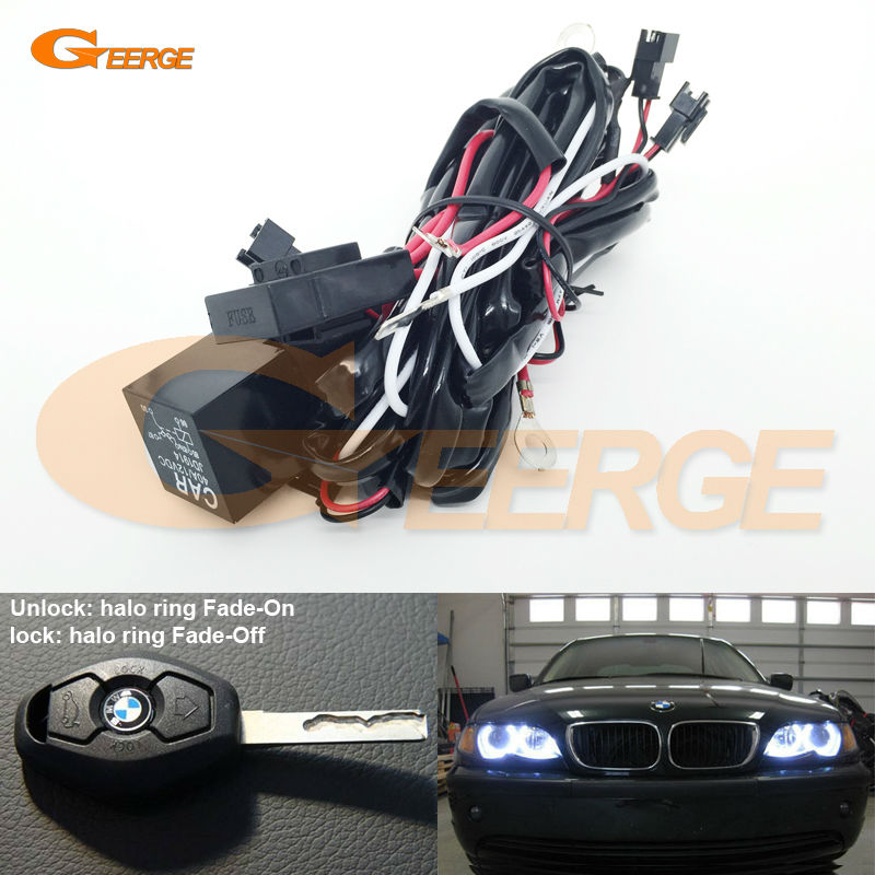 relay wiring harness kit for bmw angel eyes halo rings led. Black Bedroom Furniture Sets. Home Design Ideas