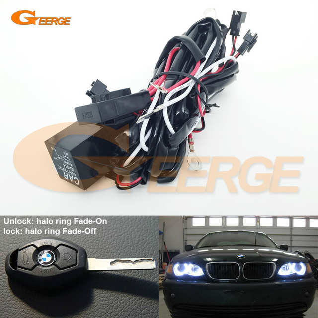 US $9 49 5% OFF|Relay Wiring Harness Kit For BMW Angel Eyes Halo Rings LED  or CCFL Relay Harness w/ Fade on Fade off Features-in Car Light Accessories