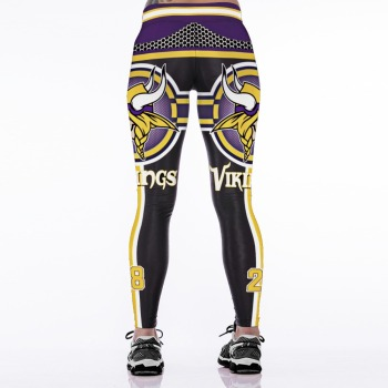 Unisex Football Team Vikings 28 Print Tight Pants Workout Gym Training Running Yoga Sport Fitness Exercise Leggings Dropshipping 1