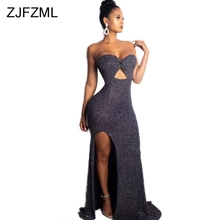 65635f4280c3b Buy women shiny sexy strapless off shoulder dress and get free ...