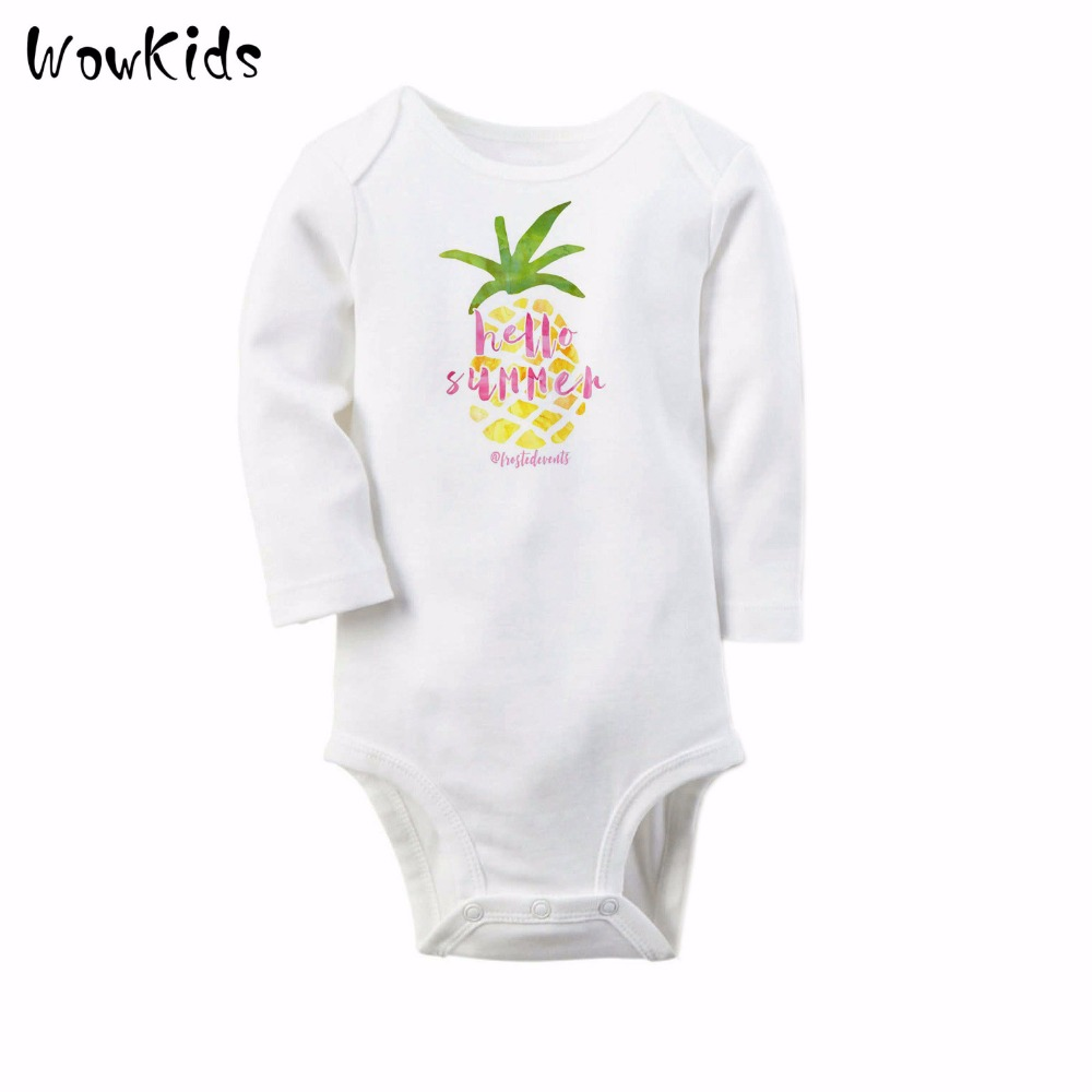 Autumn Baby Boys Romper Fruit Style Pineapple Infant Rompers Babies Jumpsuit Long Sleeve Winter Cotton Newborn Body Clothes winter warm thicken newborn baby rompers infant clothing cotton baby jumpsuit long sleeve boys rompers costumes baby romper