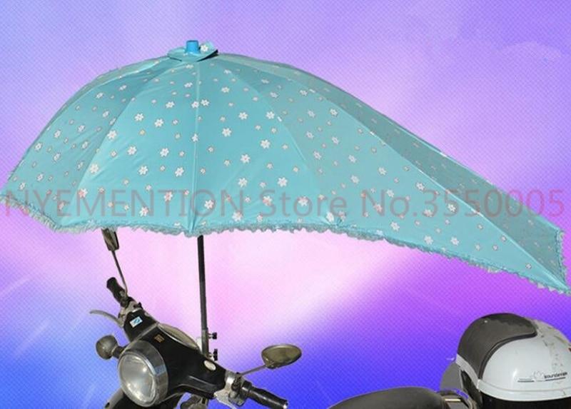 Electric Bicycle UV Protection sunshade Umbrella Motorcycle Rain Umbrella Multifunction Folding Rain Gear
