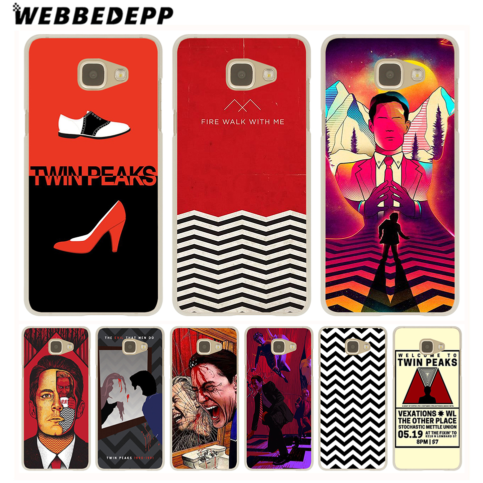 WEBBEDEPP Red WELCOME TO TWIN PEAKS Case for Galaxy A3 A5 A7 A8(2015/2016/2017/2018) Note 8 5 4 3 2 Grand Prime