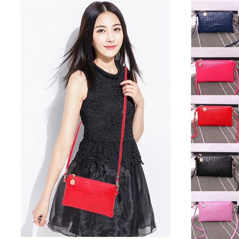 NOENNAME_NULL Women Girls Crossbody Shoulder Bag Tote Messenger Leather Satchel Handbag