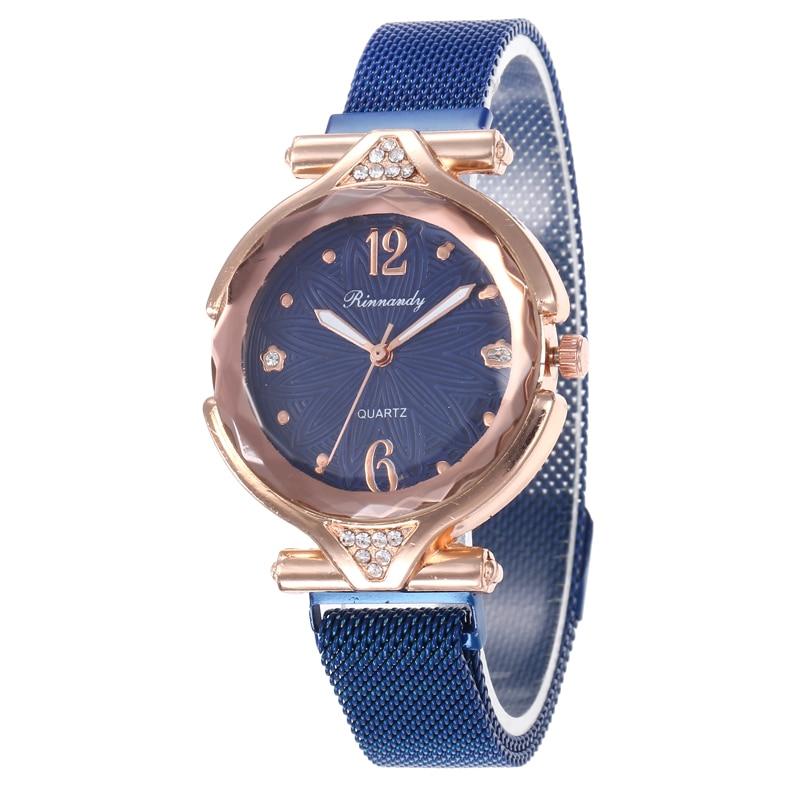 Quartz Women Watch Flower Refraction dial Watches Denim Simple Magnet buckle Casual Analog WristWatch Relogio Feminino