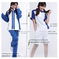 Fashion Cosplay The Prince of Tennis Costumes Echizen Ryoma School Uniform Autumn and Summer Clothes Set