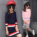 5-14 age Fashion Girls clothes set Winter Clothes Kids Long Sleeve Sweater Skrit Sets Girl Clothing Sets 6 7 8 9 10 11 12 13
