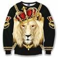 2016 new fashion women/male 3d sweatshirt printed lion/dog/tiger womens harajuku galaxy hoodies men thrasher trasher hip hop