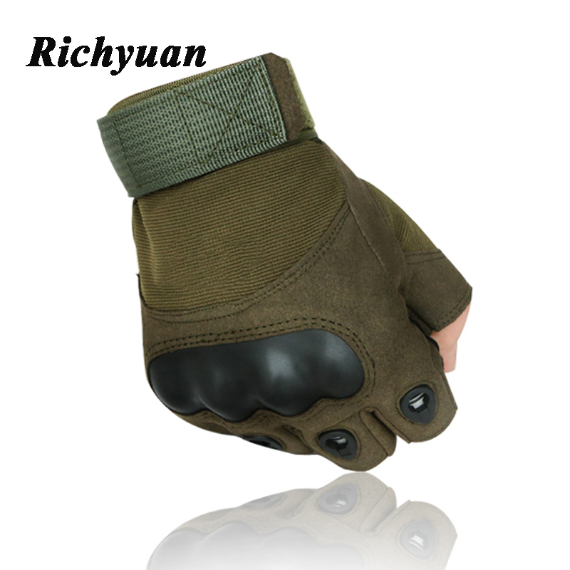 Military Tactical Gloves Army Men Outdoor Half Finger Sports Gloves Antiskid Bicycle Wearable Fingerless Gym Luvs Gloves