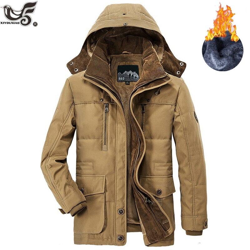 Marque hiver veste hommes taille 5XL 6XL chaud épais coupe-vent haute qualité polaire coton-rembourré Parkas militaire pardessus vêtements - 2