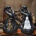 Прямая поставка китайская керамическая горелка для благовоний с обратным потоком горелка для дома декоративная скульптура украшение Будд...
