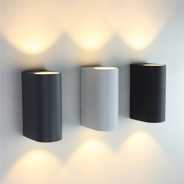 up down outdoor lighting wall lamps cylinder cob 6w led wall light