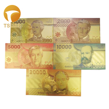 New Chile Gold Banknote Set 5pcs Colored 1000-20000 Pesos Gold Note