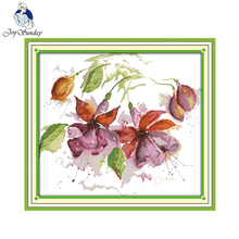 Joy sunday floral style Gorgeous lily house ornament large counted cross stitch patterns stamped fabric for beginners