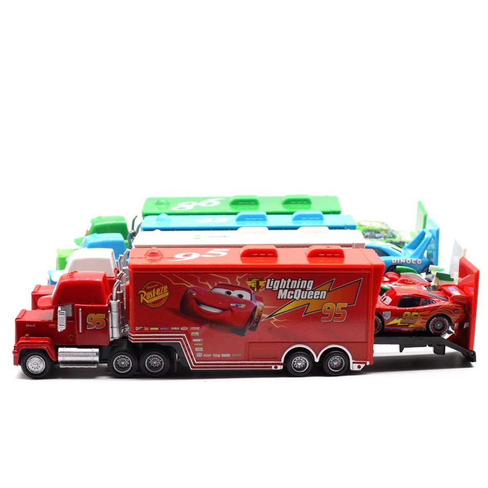 Disney Pixar Cars 4 Styles Mack Truck McQueen Uncle 1:55 Dyscast - Bilar och fordon - Foto 2