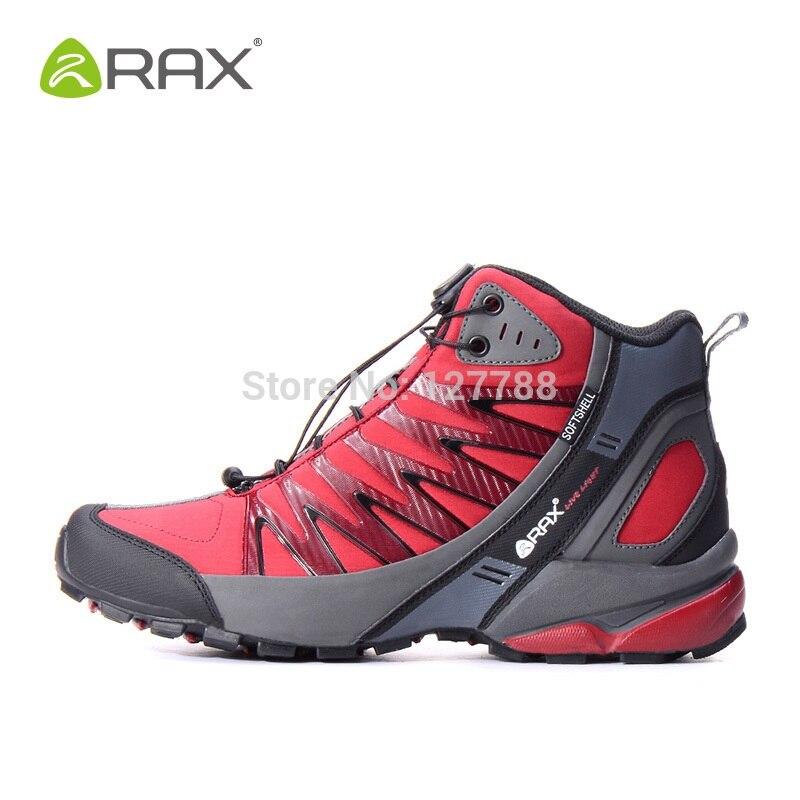 Rax Hommes Professionnel Randonnée Chaussures Respirant de Randonnée En Cuir En Plein Air Bottes Camping Escalade En Plein Air Sneakers D0542