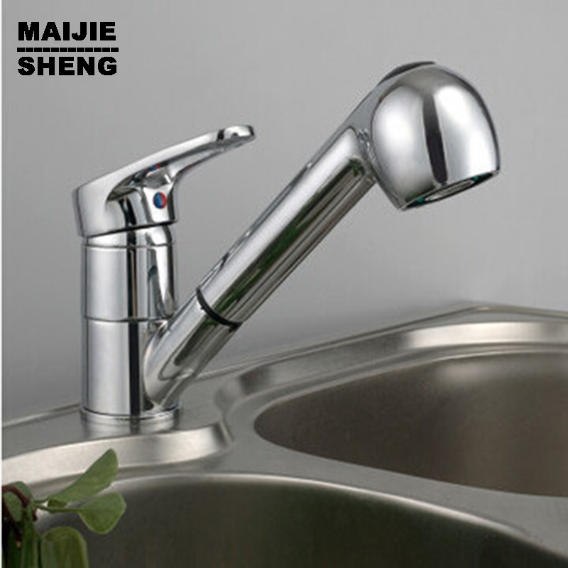 Kitchen faucet pull out single lever kitchen sink taps Basin pull out mixer taps torneira cozinha pull out kitchen faucets brushed nickel sink mixer tap 360 degree rotatable torneira cozinha mixer taps
