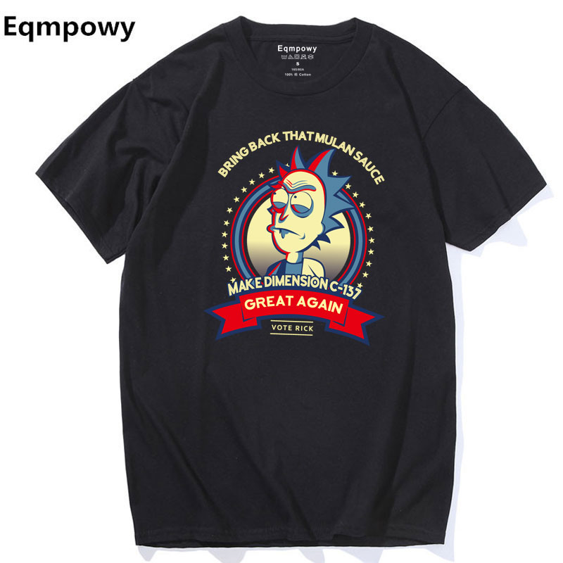 Eqmpowy Rick and Morty   T  -  shirt   2017 New Anime Style Cotton 3D   Shirt   O-Neck Short Sleeve   T     Shirt   Homme Rick Morty Fans   T     shirts