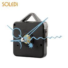 Черные кварцевые настенные часы механизм для ремонта DIY Набор инструментов синие стрелки бесшумные Новые