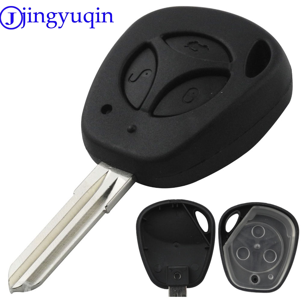 jingyuqin 3 Buttons Replacement Car Key Shell For Lada Uncut Auto Blank Remote Key Case Cover Fob Priora Kalina