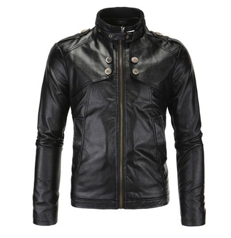 New Motorcycle Jackets Men Vintage Retro PU Leather Jacket Racing Biker Punk Classical Casual Bomber Windproof Moto Jacket free shipping new vintage brand clothing mens cow leather jackets men genuine leather biker jacket motorcycle homme fitness