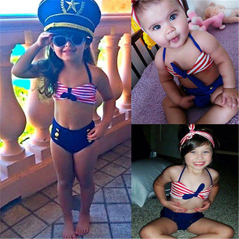 2017 Детский костюм бикини для маленьких девочек, морской купальный костюм, одежда для купания, купальный костюм, летняя пляжная одежда для де... 16