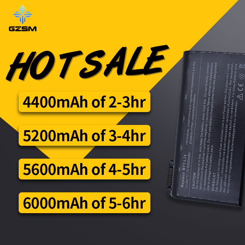 HSW 6cell Battery For <font><b>Msi</b></font> CX620 CX620MX CX620X CX623 CX623X CX630 CX700 CX700X CX705 CX705X CX720 <font><b>GE700</b></font> BTY-L74 BTY-L75 bateria image