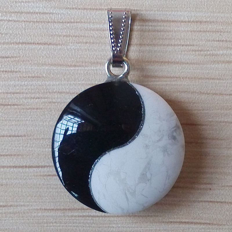 Image 3 - 2017 bestselling top quality natural stone Tai Chi Yin Yang Charm pendants for jewelry making 6pcs/lot Wholesale free shipping-in Pendants from Jewelry & Accessories