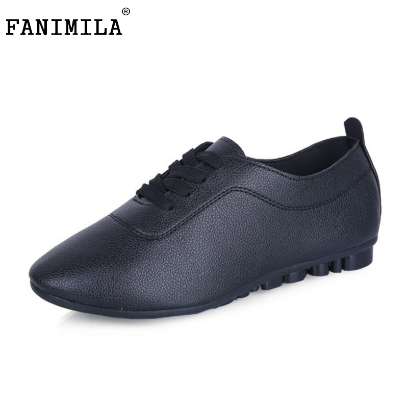 White Shoes For Women Casual Classic Shoes Brogues Oxford Shoes Women's Flats Lace Up Ballet White Shoes For Student Size 35-40