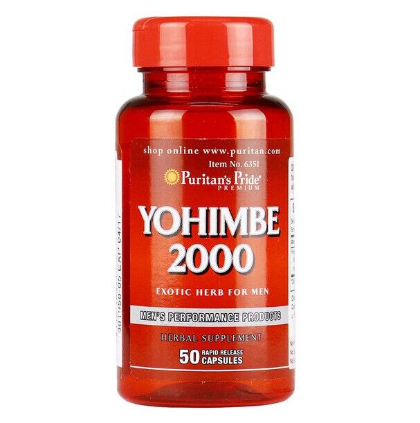 Yohimbe 2000 mg 50 pcs Exotic Herb For Men free shipping free shipping melatonin 3 mg 240 pcs