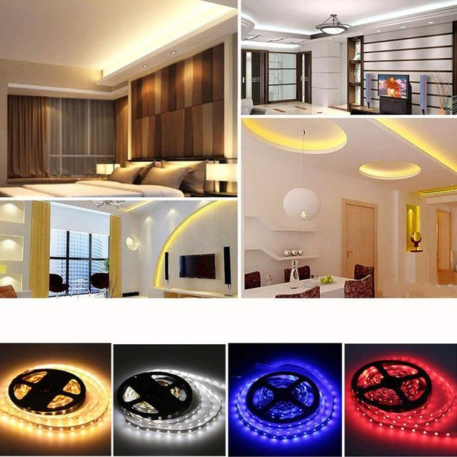 5050 RGB LED Strip Waterproof DC 12V 5M RGBW RGBWW LED Strips Light Flexible with 5A Power and 44 Keys Remote Control