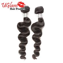 Free shipping Indian Virgin Hair Loose wave 2PCS Unprocessed Human Hair 7A Indian Hair Weave Full and Thick Ms Lula Hair Product