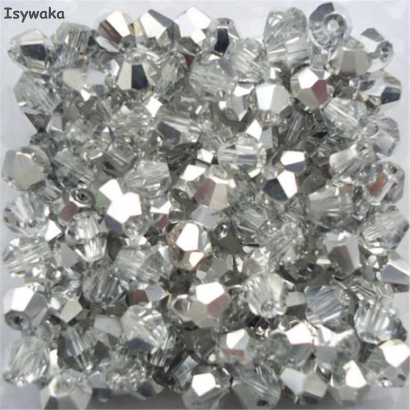 Calvas Mixed Color Cristal Bead Big Hole Glass Bead Crystal Large Hole Charm Bead Jewelry Accessory