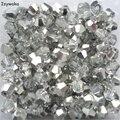 Metade Cor Prata 100 pcs 4mm Contas Bicone Áustria Cristal charme Contas de Vidro Solto Spacer Bead para Jóias DIY fazendo
