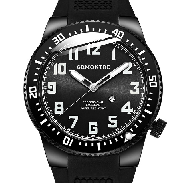 753e1ba5e5d 200 m À Prova D  Água Relógio de Mergulho Profissional GRMONTRE Relógios  Homens Esportes Relógios