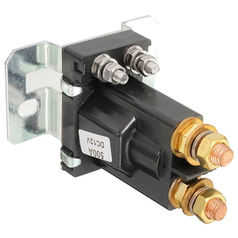 Double relais d'isolateur de batterie marche/arrêt 4 broches 500A 12 V pour interrupteur d'alimentation de voiture