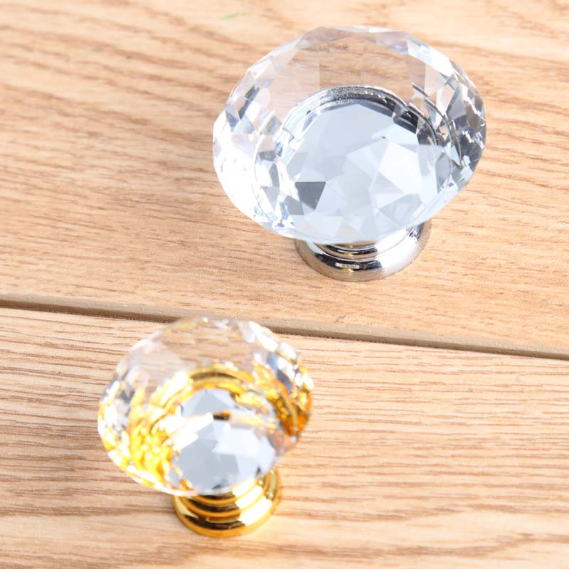 silver gold dresser kitchen cabinet door handles knobs fashion deluxe glass k9 crystal drawer win cabinet knobs pulls 30mm 40mm 33mm glass kitchen cabinet handles clear crystal drawer knobs silver tv table dresser cuoboard furniture door pulls knobs