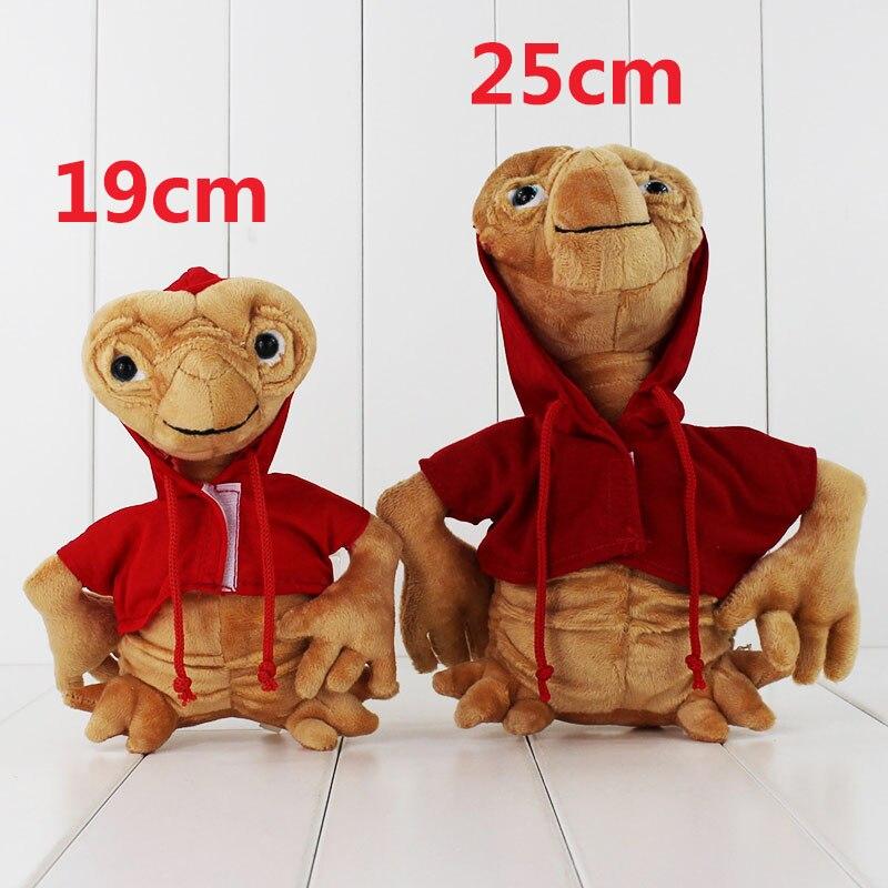Vendita caldo 2 pz ET Extra Terrestrial Alien Farcito Bambola Della Peluche Con Cappuccio da uomo Giocattolo Da Collezione