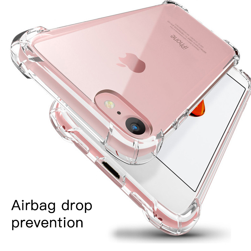 Capa de silicone tpu para iphone xr xs max 11 pro x 8 7 plus anti-knock transparente capa fina para iphone x 6s plus 11 pro max capa