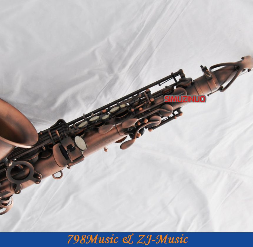 Professional Red Antique 54 Reference Alto Sax Saxophone Abalone Shell High F#