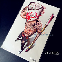 Waterproof Temporary Big Tattoo Sleeve Stickers Cute Monkey King Design Body Art Man Woman Sex Products Makeup Styling Tools