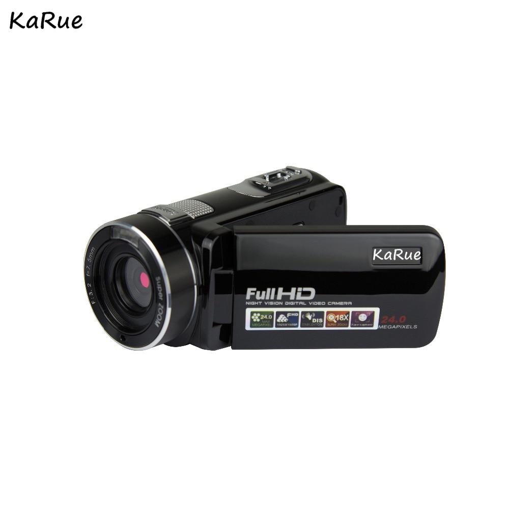 KaRue Digital Video Camera HDV-302P 24MP 1080P HD Digital Camera 16X Digital Zoom 3.0 Inch Anti-shake 3.0MP CMOS DV Camcorder цена