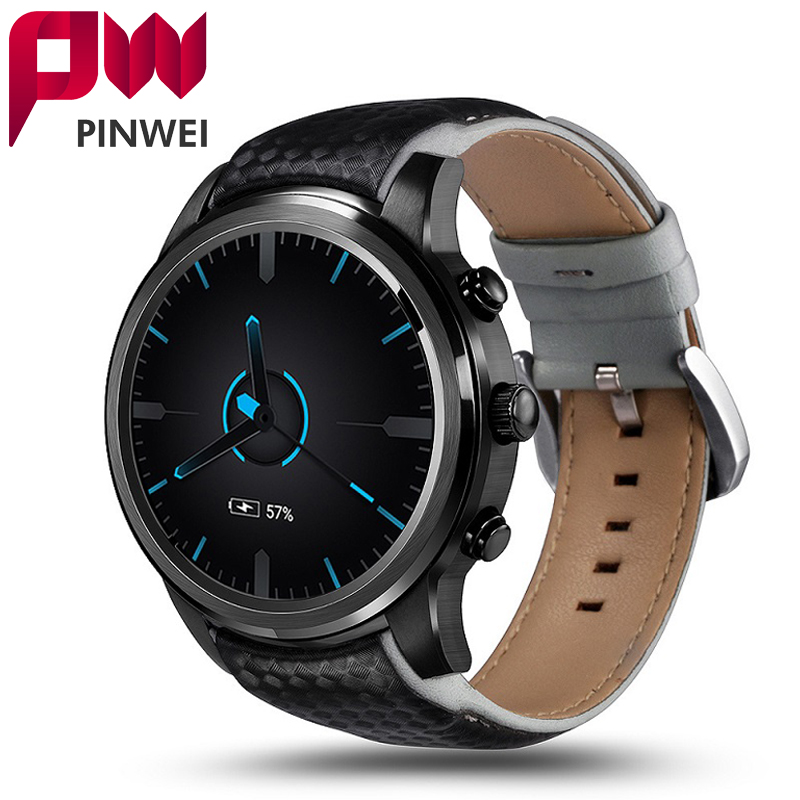 PINWEI LEM5 Android 5.1 Smart Watch Phone Support SIM Card Wifi 1GB+8GB Bluetooth MP3 Smartwatch With Pedometer for Android IOS pinwei bluetooth smart watch smartwatch wristwatch wearable devices for android phone with camera support sim card pk dz09 gt08
