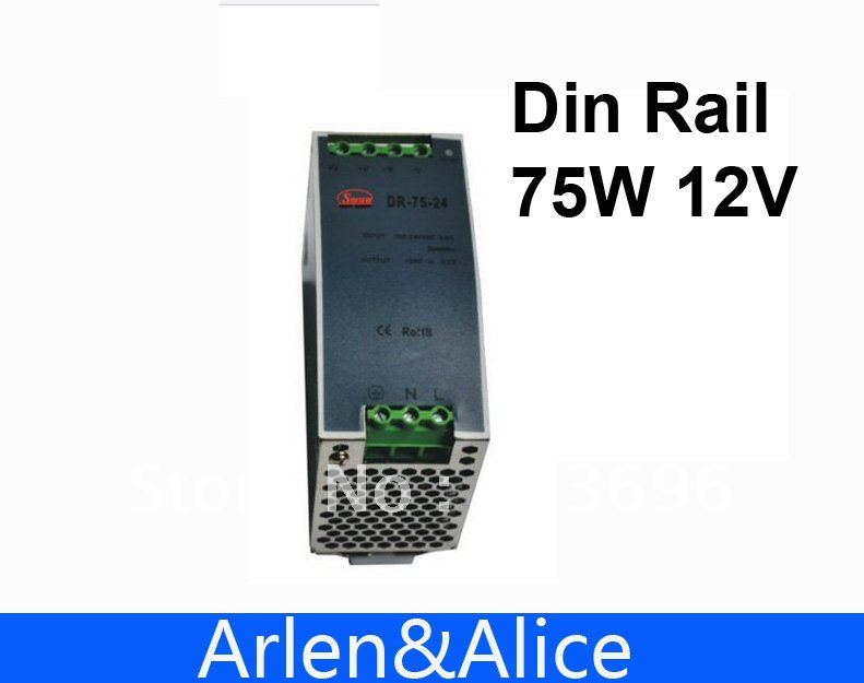 где купить 75W 12V 6.3A Din Rail Single Output Switching power supply supplies дешево