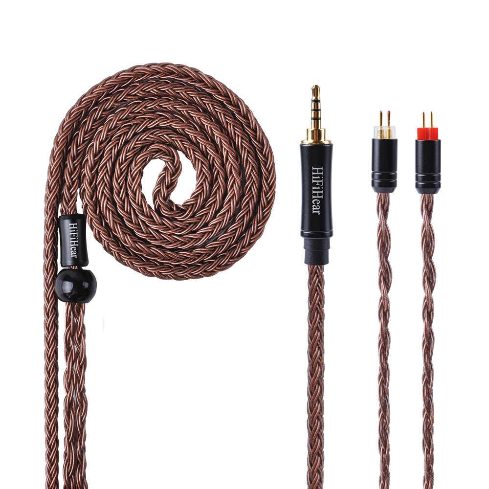 HiFiHear 16 Core посеребренный кабель 2,5/3,5/4,4 мм балансный кабель с MMCX/2pin разъем для LZ A5 HQ5 HQ6 плотным верхним ворсом KZ ZS10 ZS6 AS10